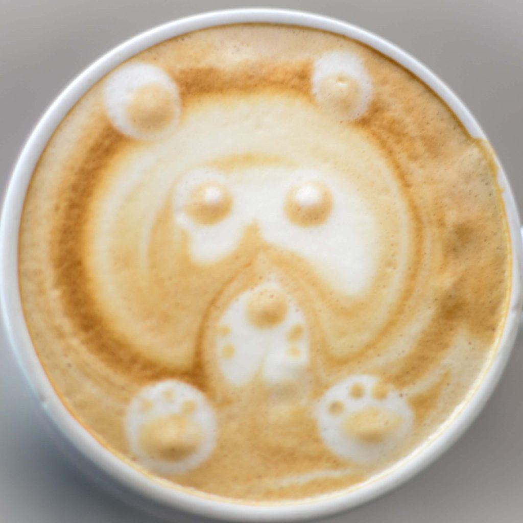 latte art bear
